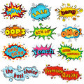 Comic sound effects in pop art vector style. Sound bubble speech with word and comic cartoon expression sounds