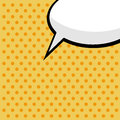 Comic speech bubble Royalty Free Stock Image