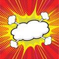 Comic speech bubble, comic backgound Royalty Free Stock Photo