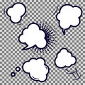Comic speech bubble empty vector icons.