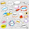 Comic speech bubble illustration of colorful in vector Royalty Free Stock Photos