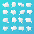 Comic Speech Bubbles. Blank Templates for Chat