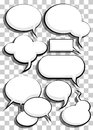 Comic speech bubbles illustration background Royalty Free Stock Photos