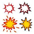 Comic speech bubbles in pop art style vector