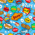 Comic speech bubbles seamless pattern Royalty Free Stock Photo
