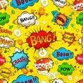 Comic speech bubbles seamless pattern