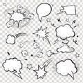 Comic Speech Bubbles. Vector I...