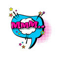 Comic Speech Chat Bubble Pop Art Style Mmm Expression Text Icon