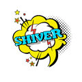 Comic Speech Chat Bubble Pop Art Style Shiver Expression Text Icon Royalty Free Stock Photo
