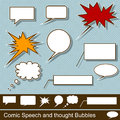 Comic speech and thought bubbles illustration of a Stock Photography