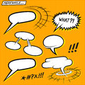 Comic strip bubbles speech layered vector illustration Royalty Free Stock Photos