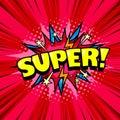 Comic style cool poster, superhero speech bubble