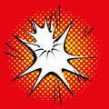 Comic style explosion effect isolated vector on background Stock Photo