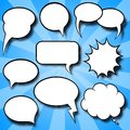 Comic style speech bubbles vector illustration of a collection of Royalty Free Stock Photography