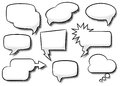 Comic style speech bubbles vector illustration of a collection of Stock Photos