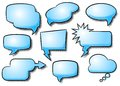 Comic style speech bubbles vector illustration of a collection of Royalty Free Stock Images