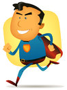 Comic Superhero Running Royalty Free Stock Images