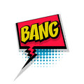 Comic text background bang