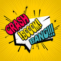 Comic text background crash boom bang