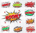 Comic wording set sound effect design for background Royalty Free Stock Photos