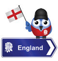 Comical england sign isolated white background Royalty Free Stock Image