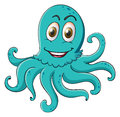 Comical octopus on white Stock Photography