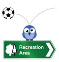 Comical recreational area sign isolated white background Royalty Free Stock Photo
