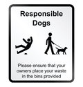 Comical responsible dogs Information Sign Royalty Free Stock Photo