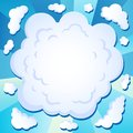 Comics cloud theme image 1 Royalty Free Stock Images