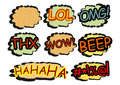 Comics icon set speech bubbles vector illustration without gradients on one layer Royalty Free Stock Image