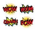Comics icons over cream background vector illustration Stock Photos