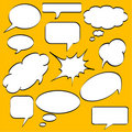 Comics style speech bubbles Royalty Free Stock Photography