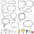 Comics style speech bubbles Royalty Free Stock Photo