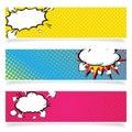 Comics Template. Vector Retro Comic Book Speech Bubbles Illustration.