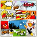 Comics Template. Vector Retro Comic Book Speech Bubbles Illustration. Mock-up of Comic Book Page with place for Text
