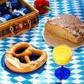 Comida campestre al aire libre bávara Fotografía de archivo libre de regalías