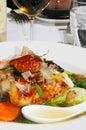 Comida japonesa de los mariscos Imagen de archivo