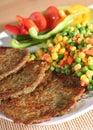Comida vegetariana, forma de vida sana Imagen de archivo libre de regalías