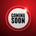 Coming soon button red isolated Royalty Free Stock Photography