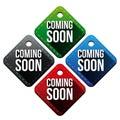 Coming soon hangtag vector Royalty Free Stock Photo