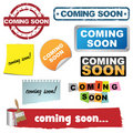 Coming soon icons Royalty Free Stock Photography