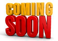 Coming soon isolate text abstract d concept Stock Photography
