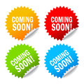 Coming soon labels Royalty Free Stock Image