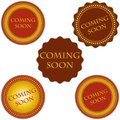 Coming soon labels set vector vintage design Stock Photo