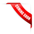 Coming soon ribbon Royalty Free Stock Photo