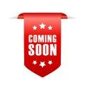 Coming soon ribbon Royalty Free Stock Photo