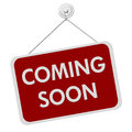 Coming Soon Sign Royalty Free Stock Photo