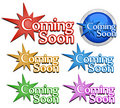 Coming soon signs Royalty Free Stock Image