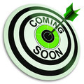 Coming Soon Target Shows New Product Royalty Free Stock Photo