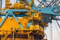 Command Cabin area of a huge Crane Vessel Royalty Free Stock Photo